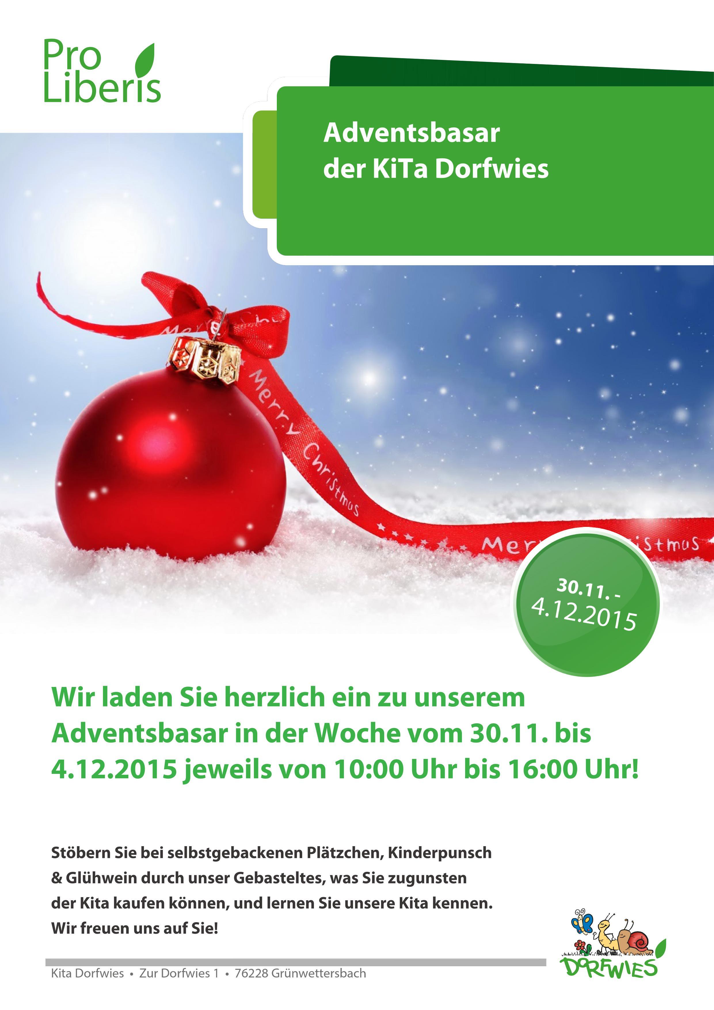 Kita Karlsruhe Einladung zum Adventsbasar