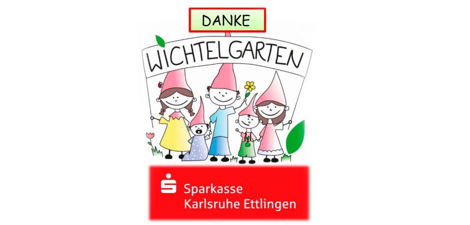 Sparkasse Karlsruhe Ettlingen spendet an die Kita Wichtelgarten