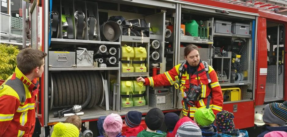 Feuerwehr Projekt der Kita Grashüpfer